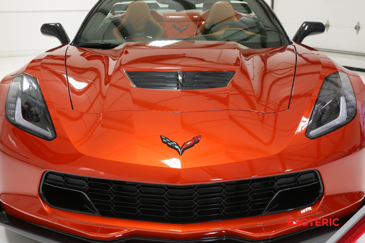 Full front-end wrap on a Corvette Z06