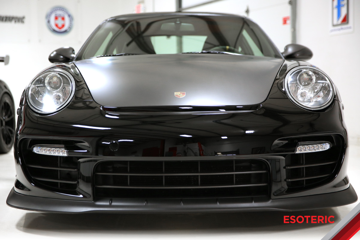 Porsche with satin paint protection film