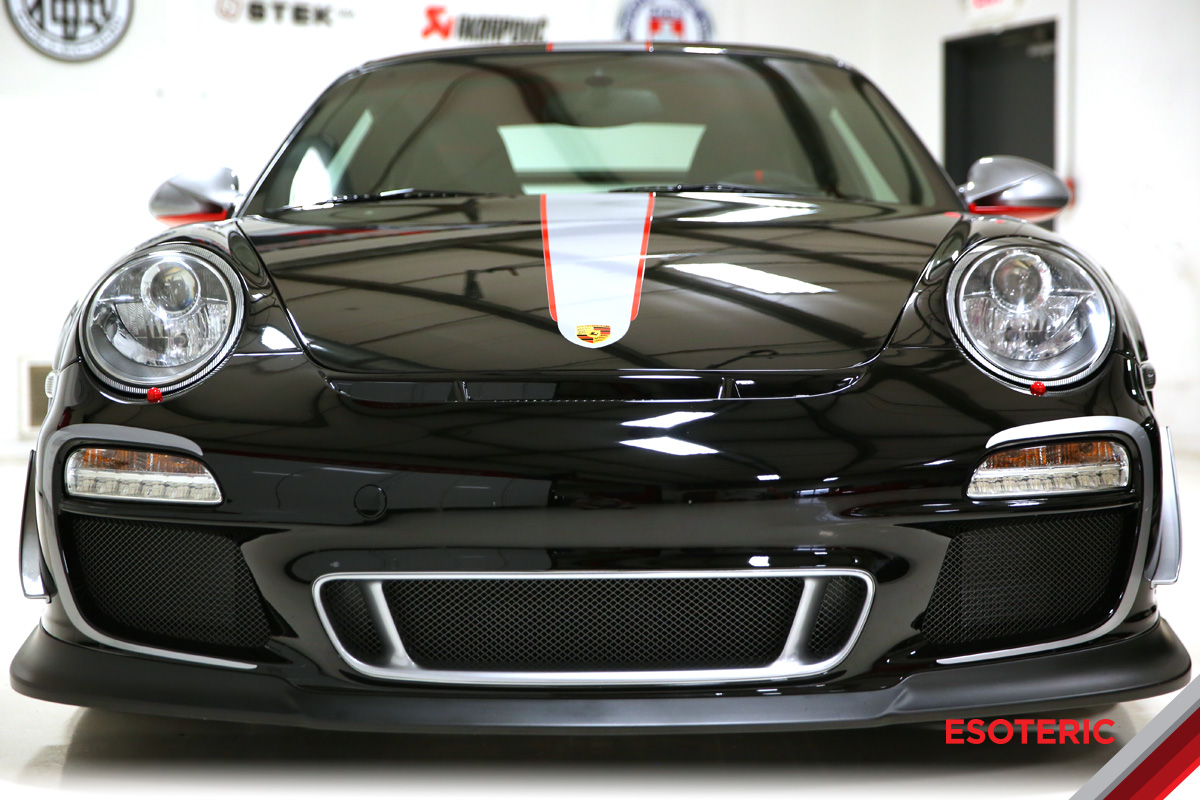 Porsche front end full wrap paint protection film at ESOTERIC