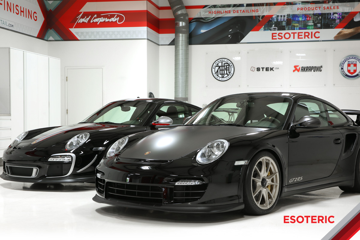 Porsche GT2RS and GT3RS with paint protection film/clear bra