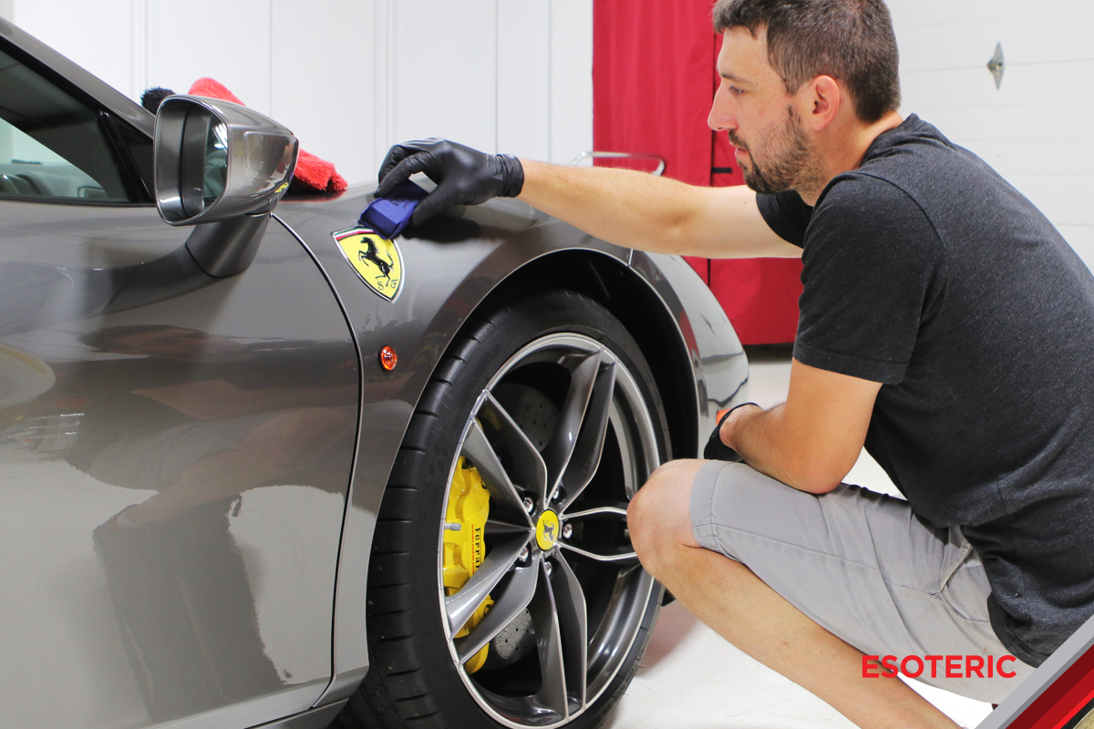 Kamikaze Coating on a Ferrari