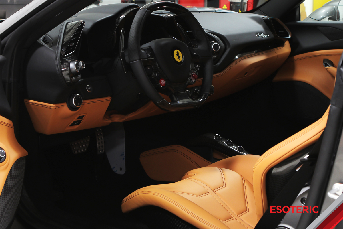 Ferrari Leather Interior with GYEON Leather Shield
