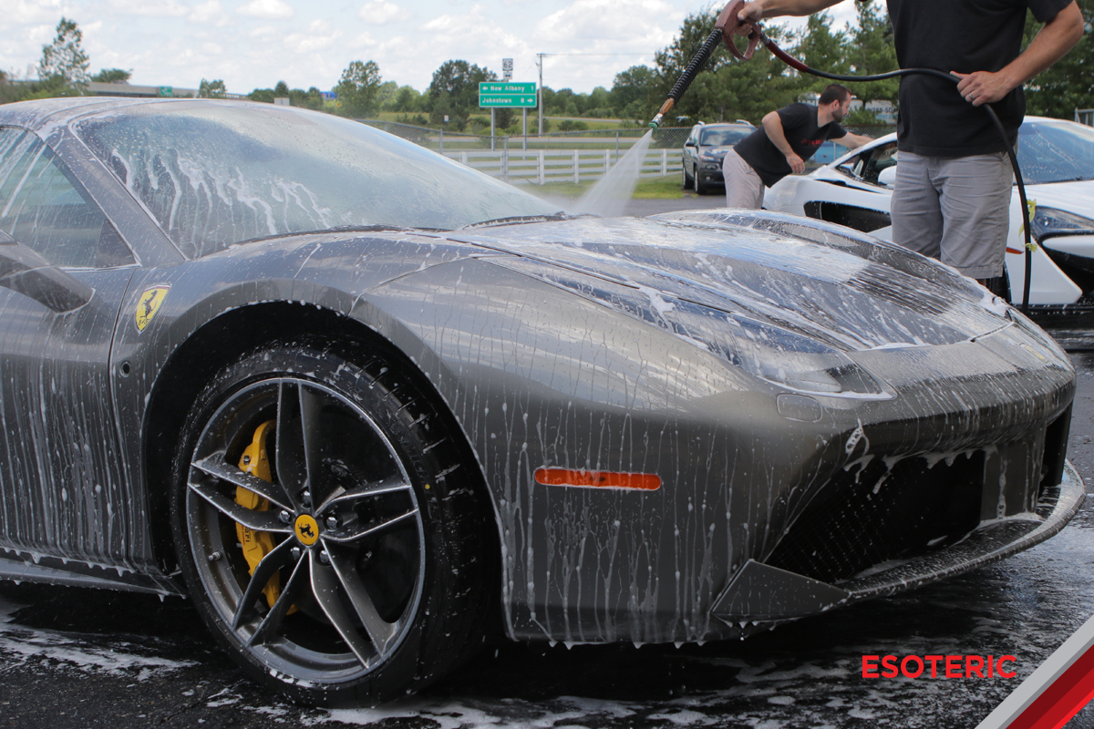 Washing a Ferrari