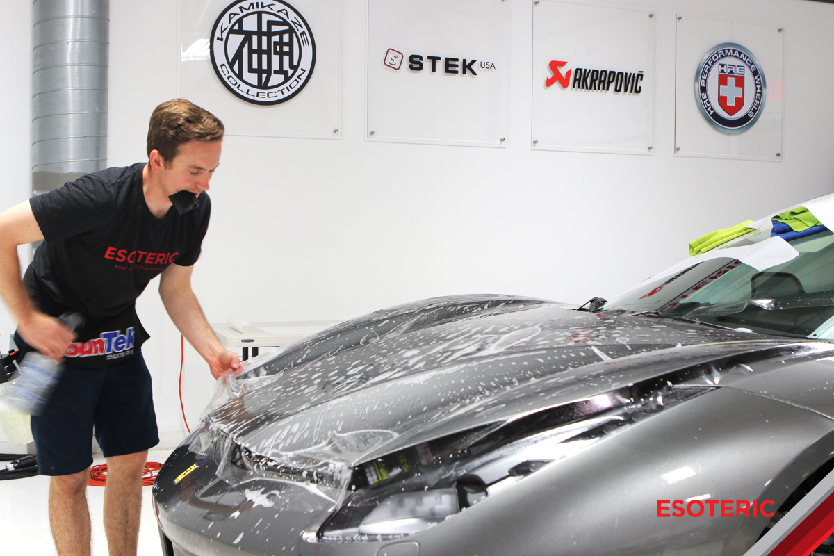 Ferrari 488 Clear Bra Installation at ESOTERIC