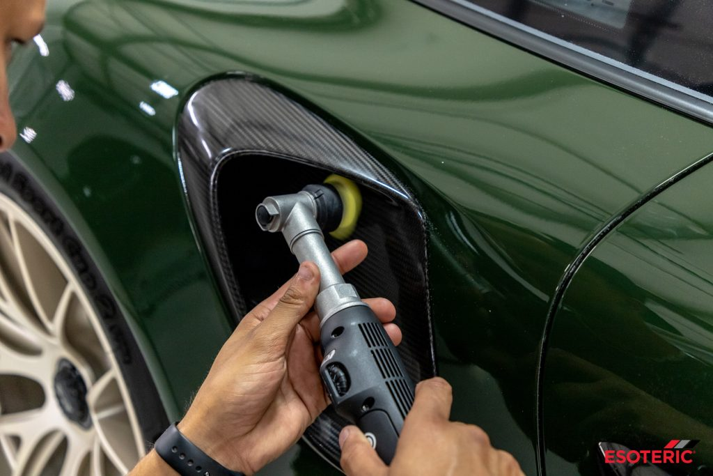 Underberg Green Porsche GT2RS Paint Correction and Paint