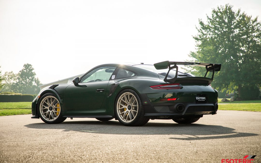 Underberg Green Porsche Gt2rs Paint Correction And Paint Protection Film Wrap Esoteric Auto Detail In Columbus Ohio Detailing Clear Bra Training And Product Sales