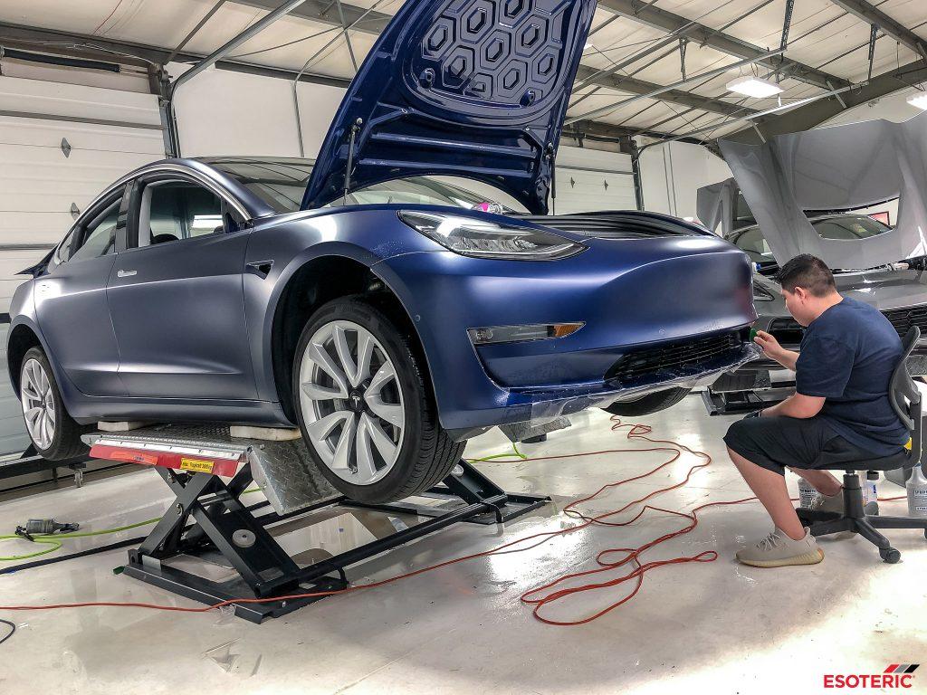 Tesla Model 3 Gets Full Satin Paint Protection Film Wrap ...