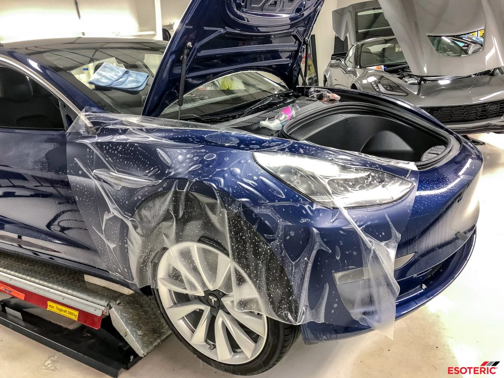 Tesla Model 3 Gets Full Satin Paint Protection Film Wrap And