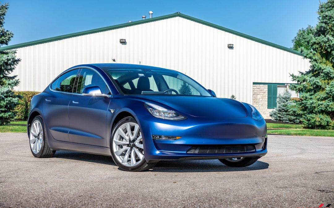 Tesla Model 3 Gets Full Satin Paint Protection Film Wrap and a FREE Screen Protector
