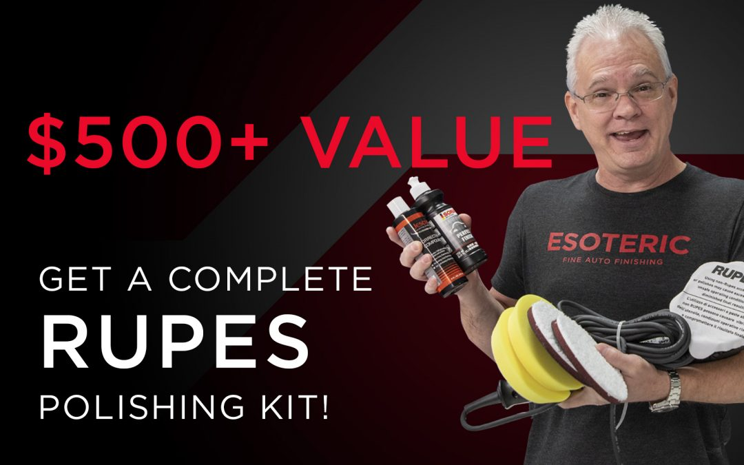 Book Your Elite Detailer Course and Receive a RUPES Polishing Kit