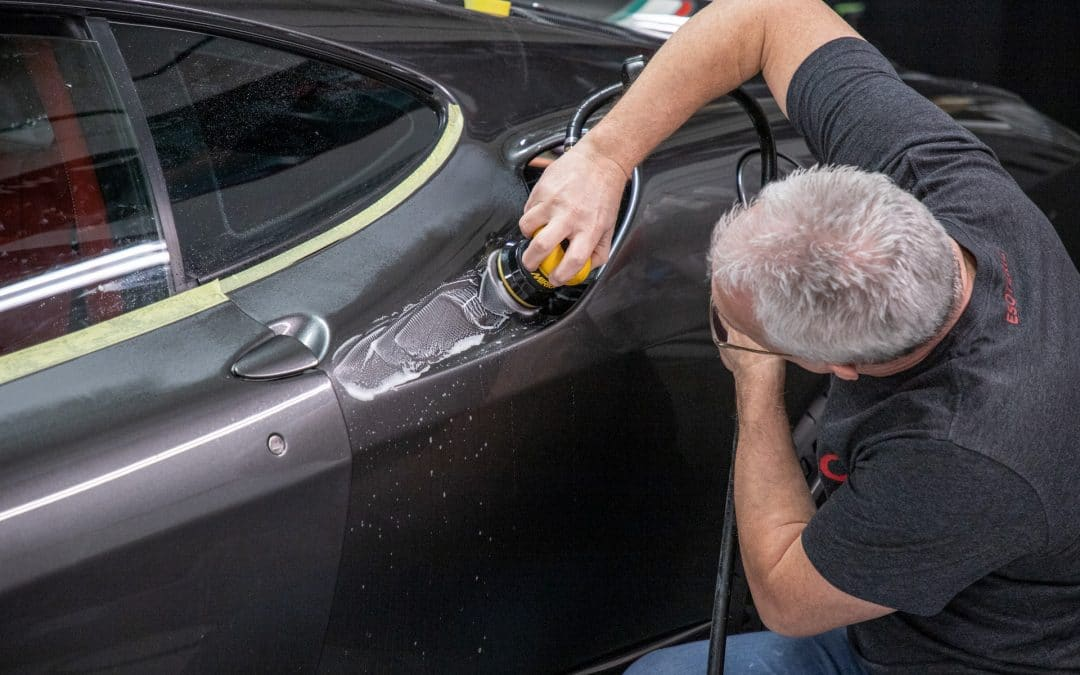 Ferrari paint polishing