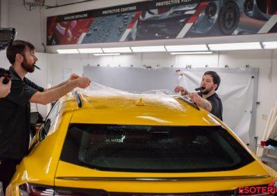 Yellow Lamborghini Urus Paint Protection Film