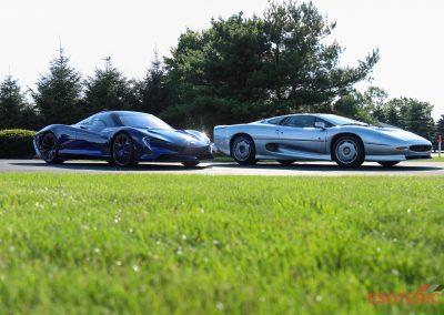 McLaren Speedtail and Jaguar XJ220