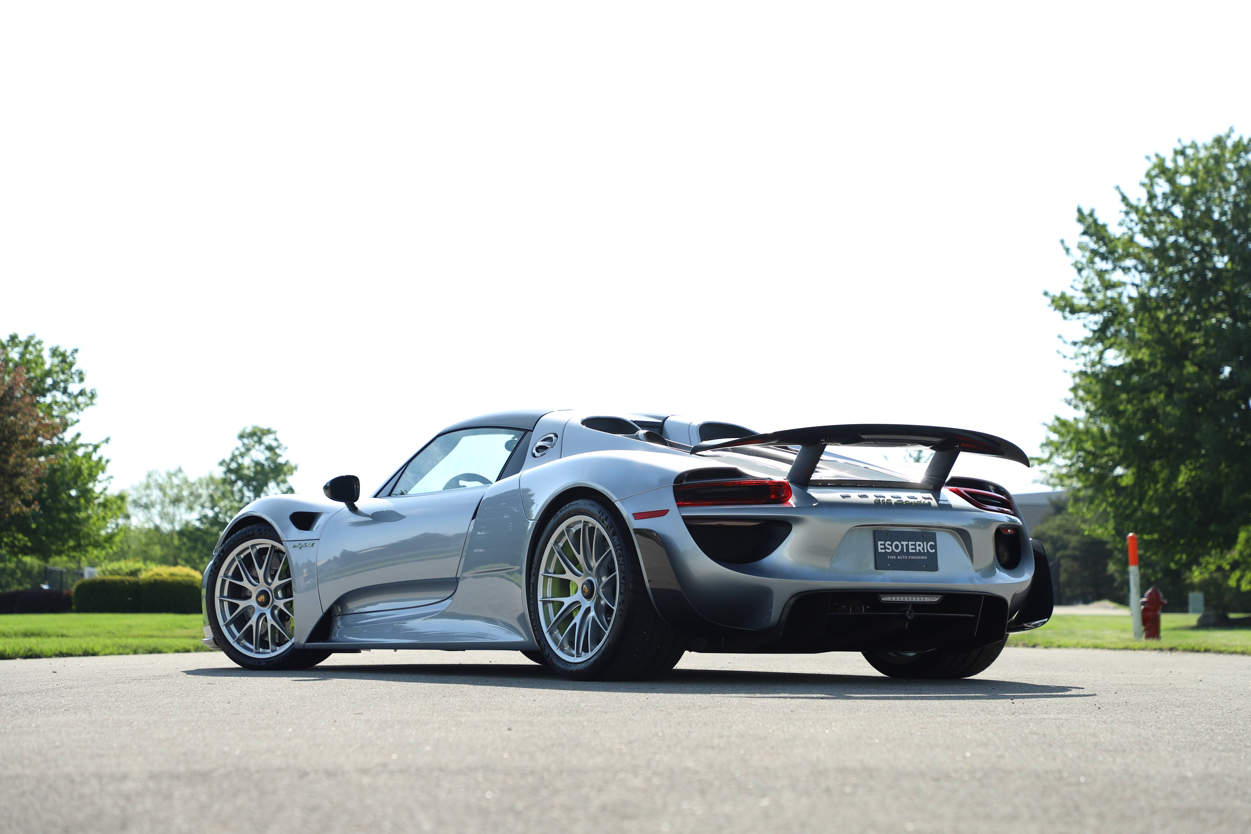 Porsche 918 full paint protection film wrap at ESOTERIC Detail
