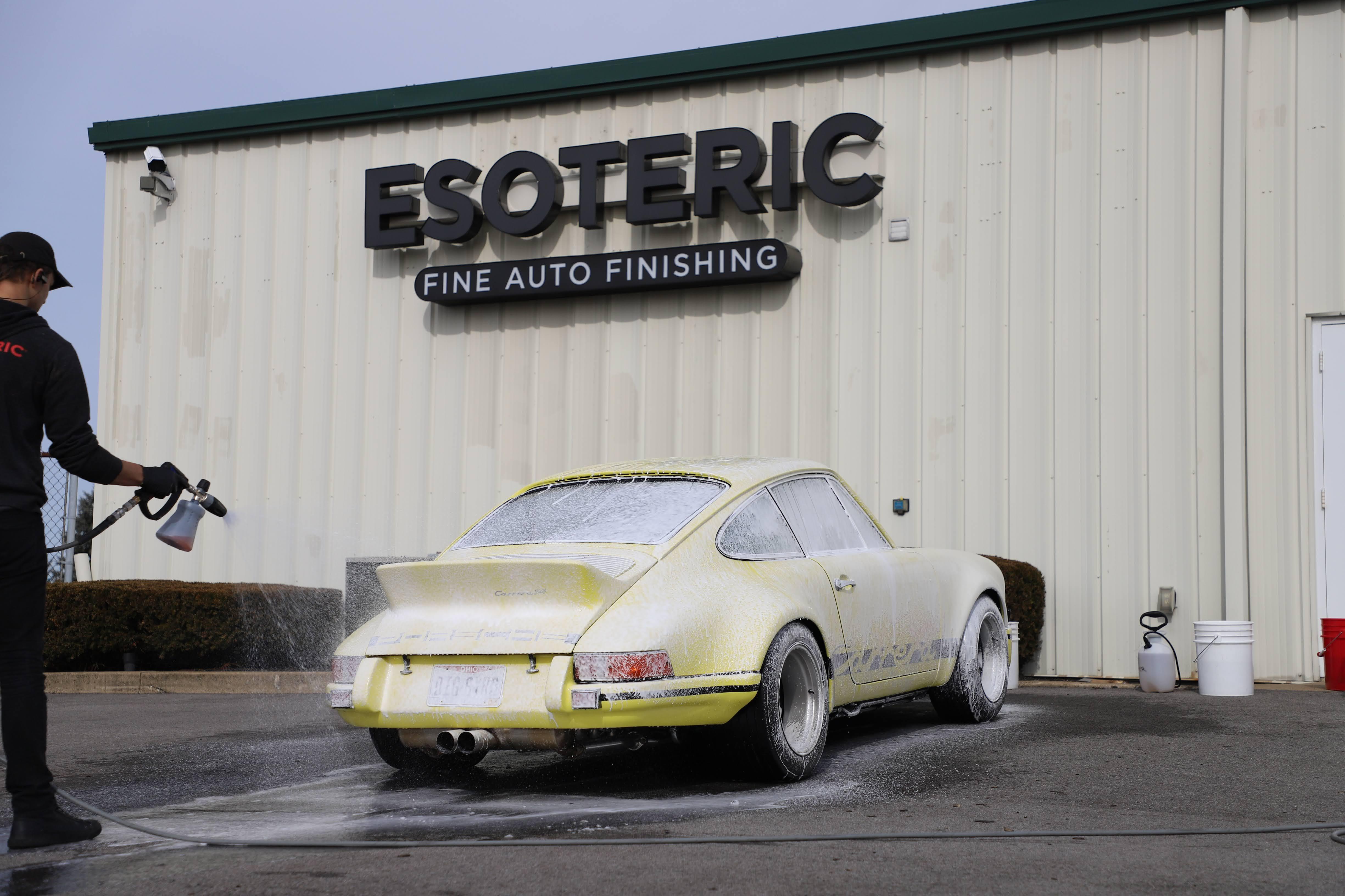 Porsche washing at ESOTERIC detail