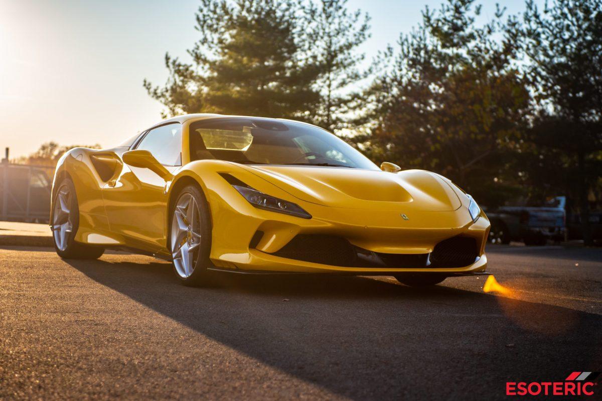 Yellow Ferrari at ESOTERIC Detail