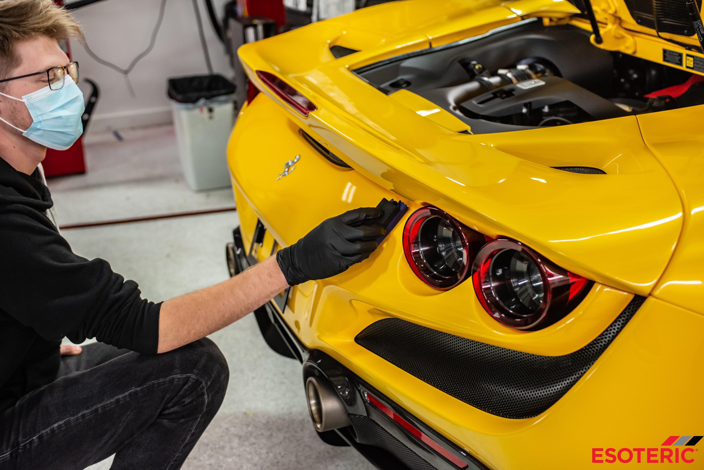 Ferrari F8 Tributo Ceramic Coating Application